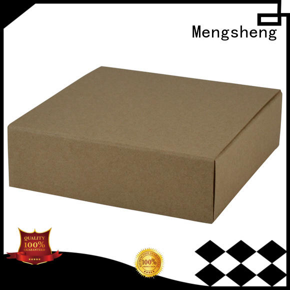 Mengsheng wholesale wrap box corrugated clothing shipping
