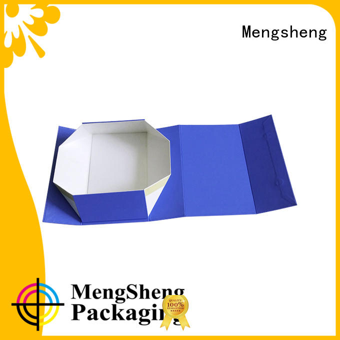 Mengsheng latest magnetic flap boxes corrugated with lid
