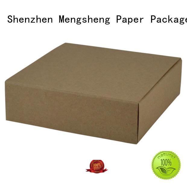 Mengsheng stamping 2 piece box rectangular jewelry packing