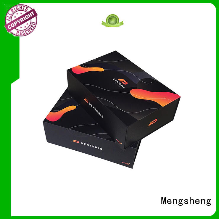 Mengsheng new magnetic gift box printing with lid
