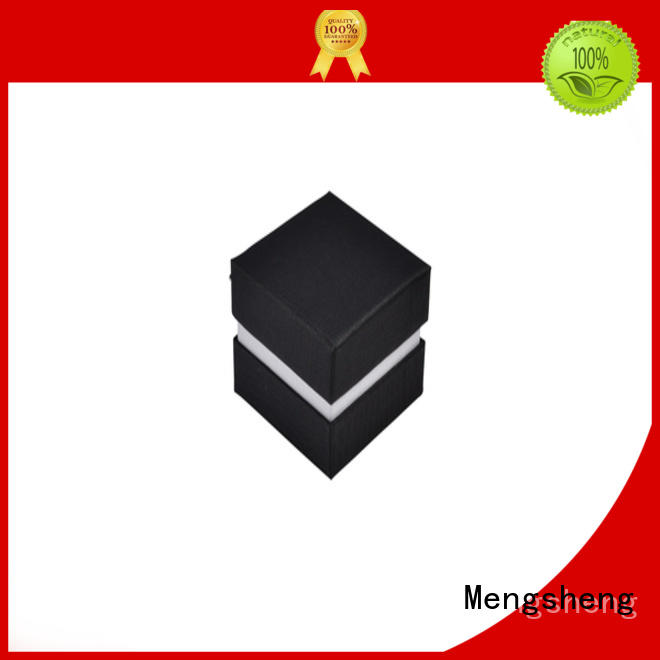 Mengsheng natural kraft paper bracelet gift box printed cardboard eco friendly