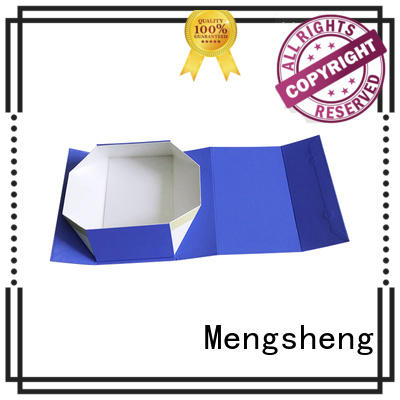 Mengsheng imprinted empty gift boxes rectangular top brand