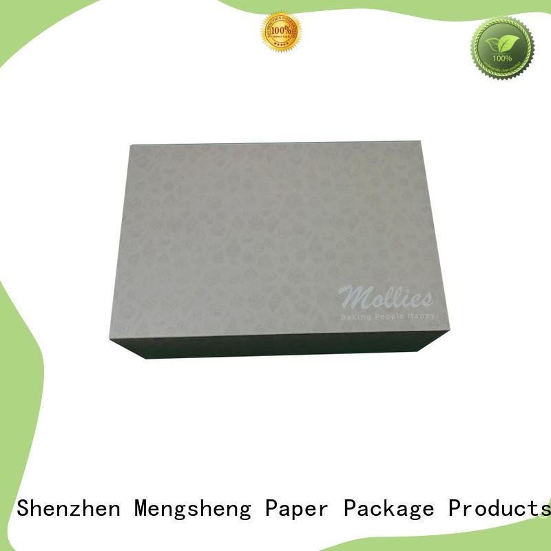 full color cake packaging printed rectangular