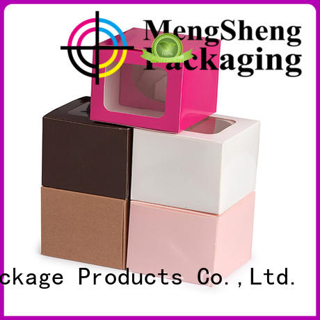 Mengsheng customized decorative gift boxes pvc inserted for fruit packaging
