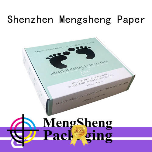 Mengsheng free sample paper boxes folding design with lid