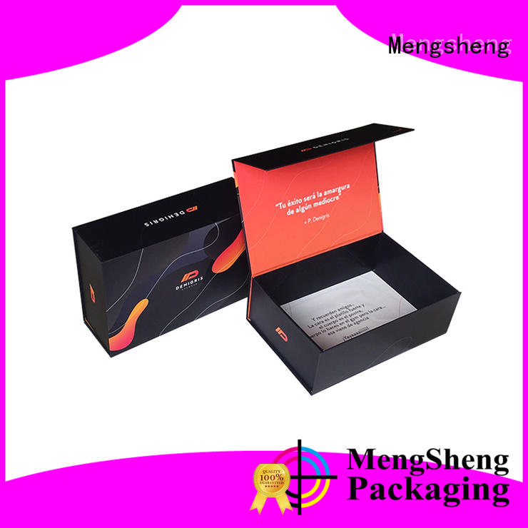 Mengsheng multifunctional folding box design easy closure garment packing