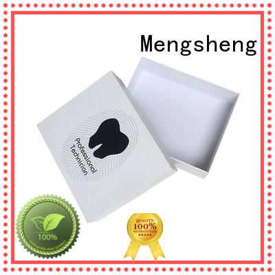 Mengsheng electronics packaging lidded cardboard boxes ribbon design jewelry packing