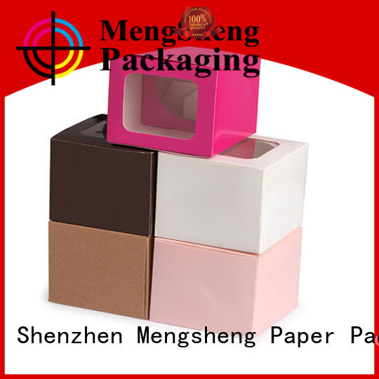 Mengsheng free sample large black gift box pvc inserted with lid