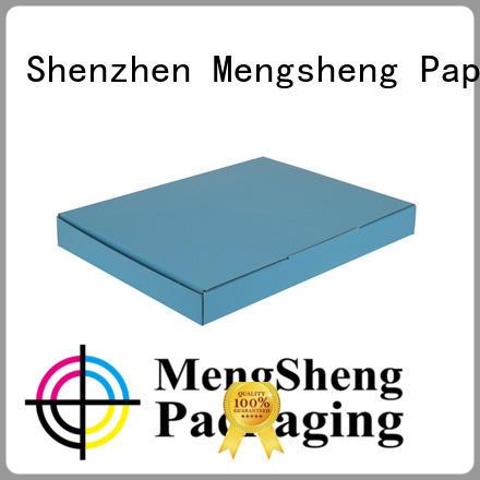 Mengsheng corrugated corrugated box price printed cardboard eco friendly