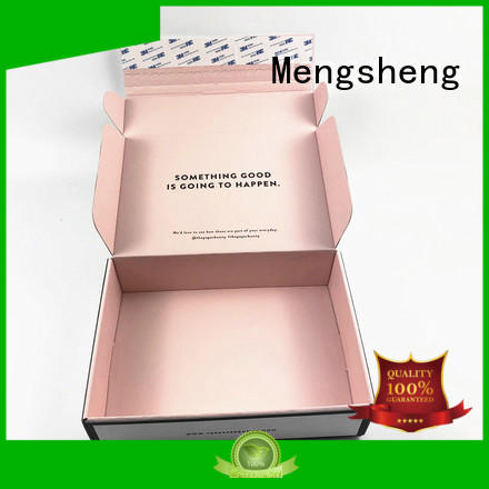 Mengsheng shipping branding package printed cardboard eco friendly