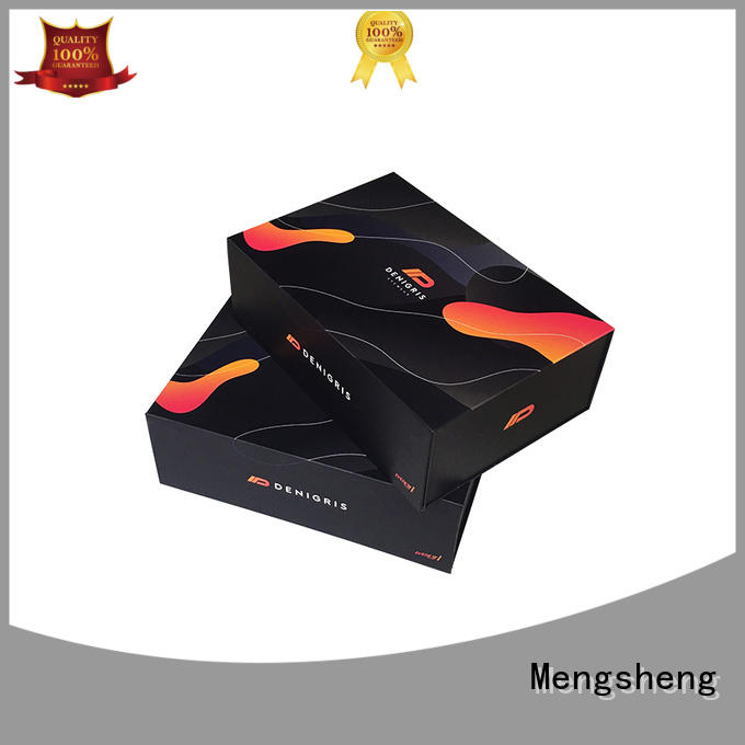 removable black magnetic box hot-sale pvc inserted clothing shipping