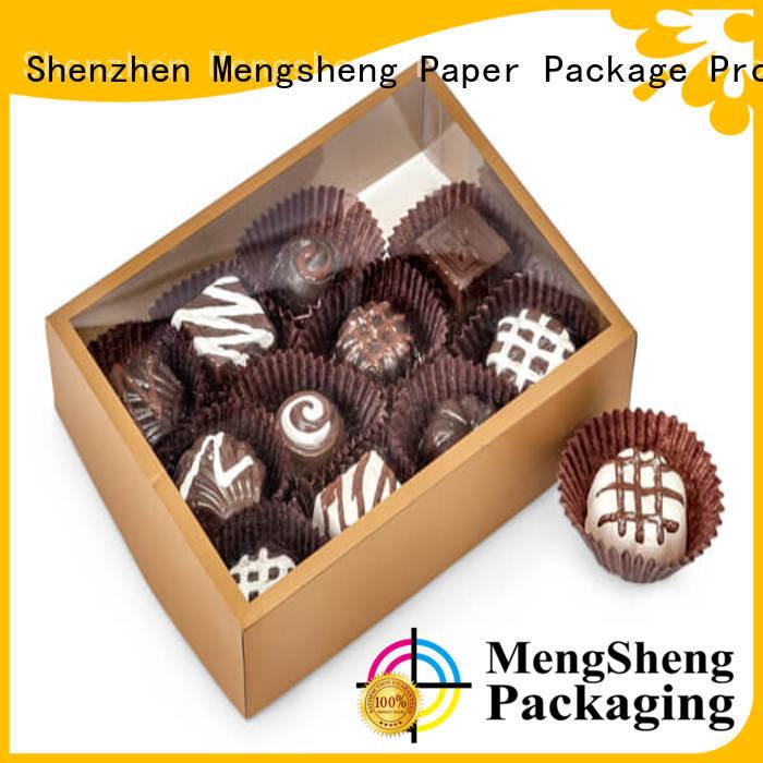 Mengsheng stamping 2 piece gift boxes ribbon design chocolate packing