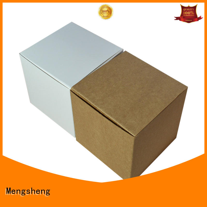 Mengsheng clear window black gift box folding design with lid
