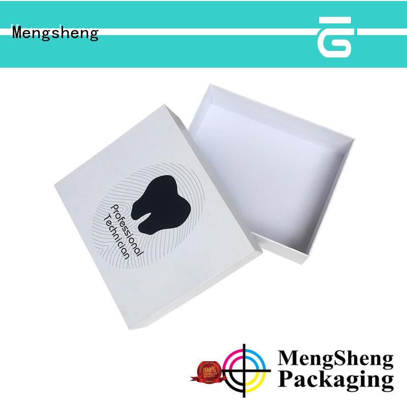 Mengsheng magnetic closure white gift boxes kraft