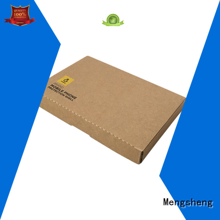 Mengsheng high quality mailing box printed cardboard convenient