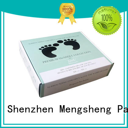 Mengsheng apparel shipping custom apparel boxes free sample with handle