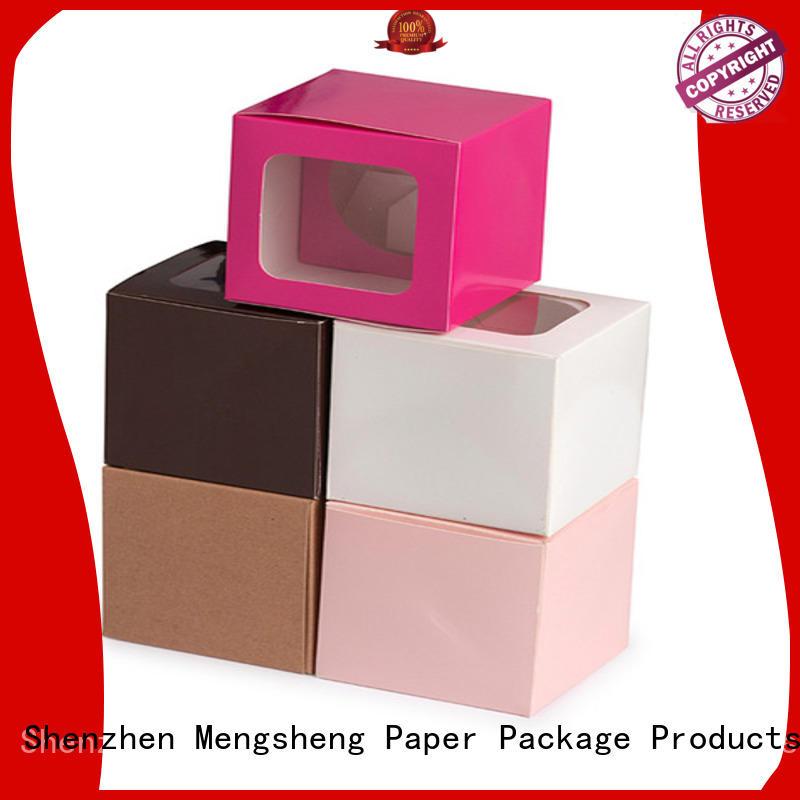 eco-friendly large white gift box free sample clothing shipping Mengsheng