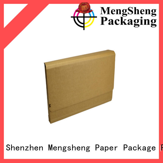 Mengsheng stamping branded packaging boxes clothing packing convenient