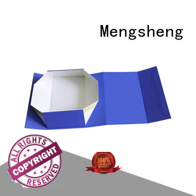 Mengsheng luxury fold up box template garment packing