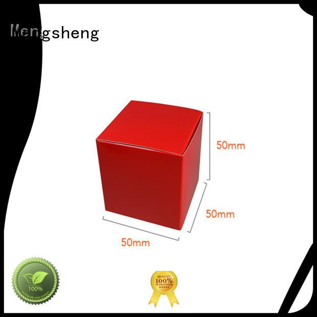 Mengsheng full color gift card box rectangular top brand