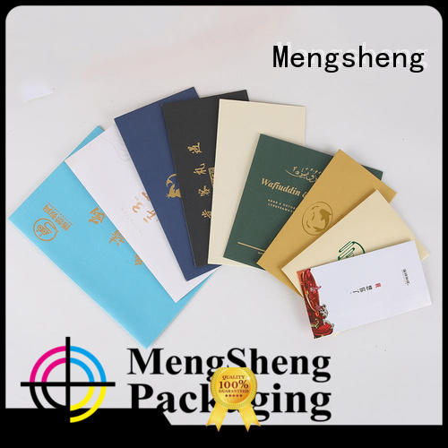 Mengsheng Supplier paper envelopes customized packing services