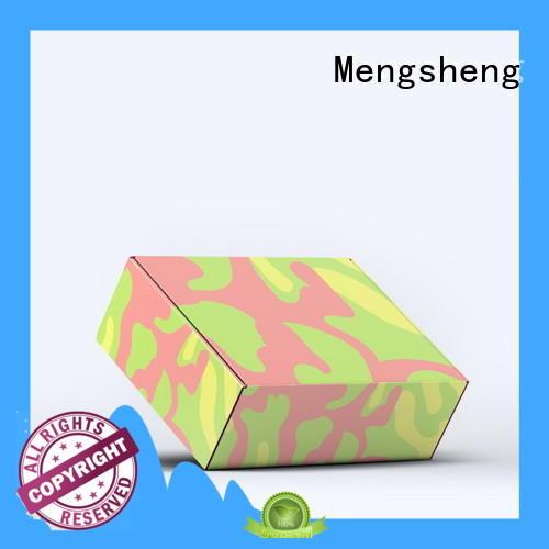 Mengsheng round tube plain corrugated box corrugated eco friendly