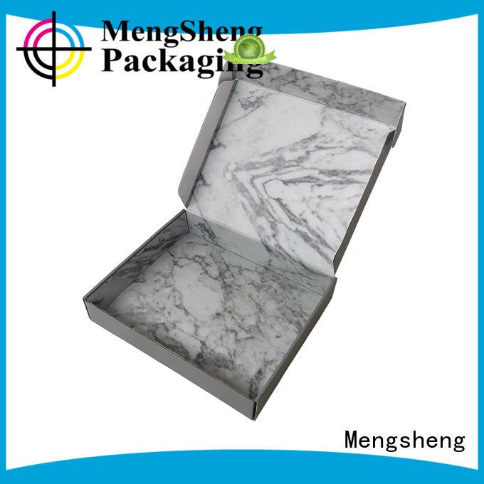 Mengsheng printing bra box oliver oil displaying with ribbon