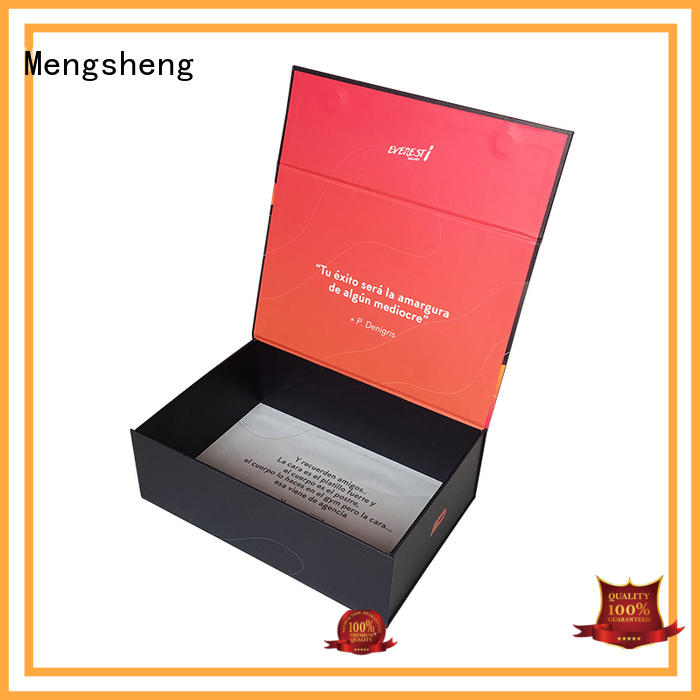 Mengsheng latest magnetic flap boxes corrugated for toy storage