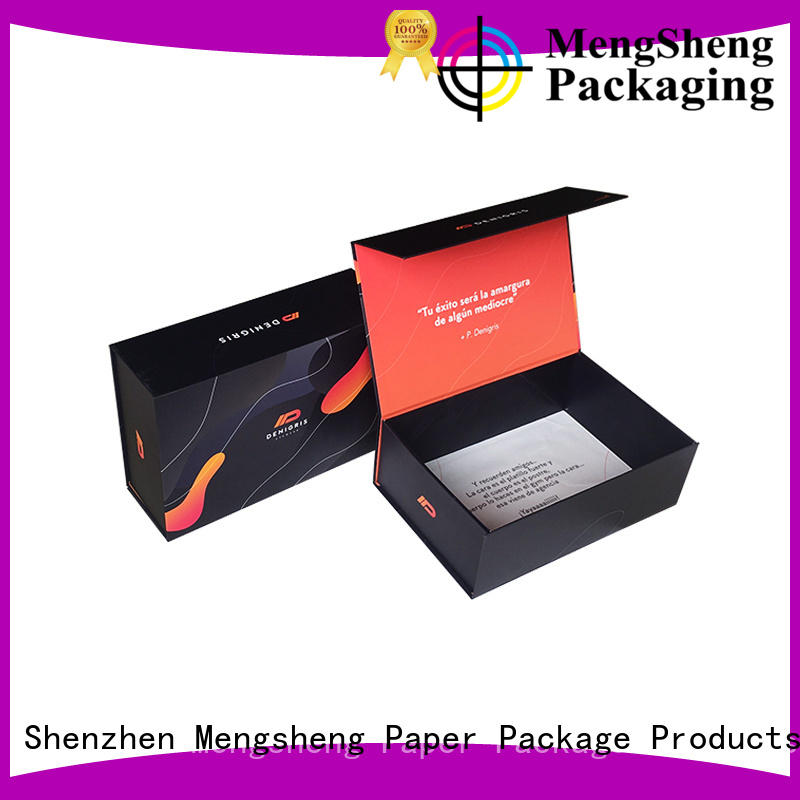 Mengsheng wholesale magnetic safe box printing for toy storage