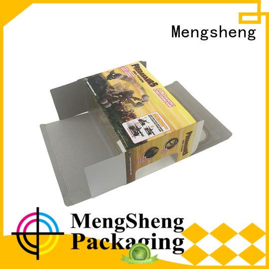 Mengsheng various shapes small gift boxes folding design clothing shipping