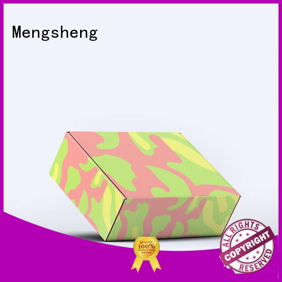 Mengsheng pvc window wedding dress box corrugated cardboard