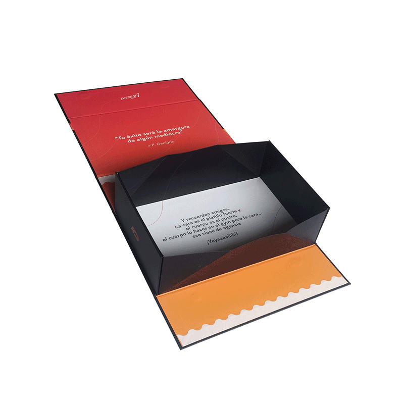 Mengsheng new magnetic gift box printing with lid-1