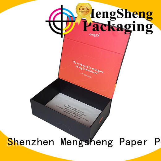 Mengsheng hot-sale magnetic safe box carton printed with lid