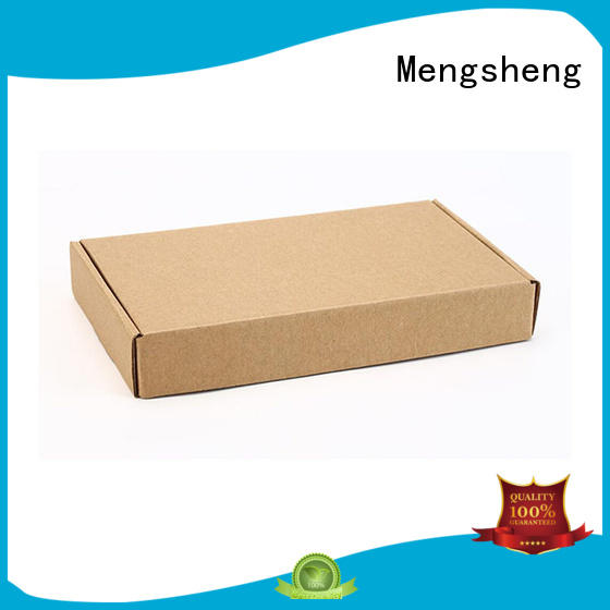 Mengsheng corrugated paper apparel gift boxes oliver oil displaying with ribbon