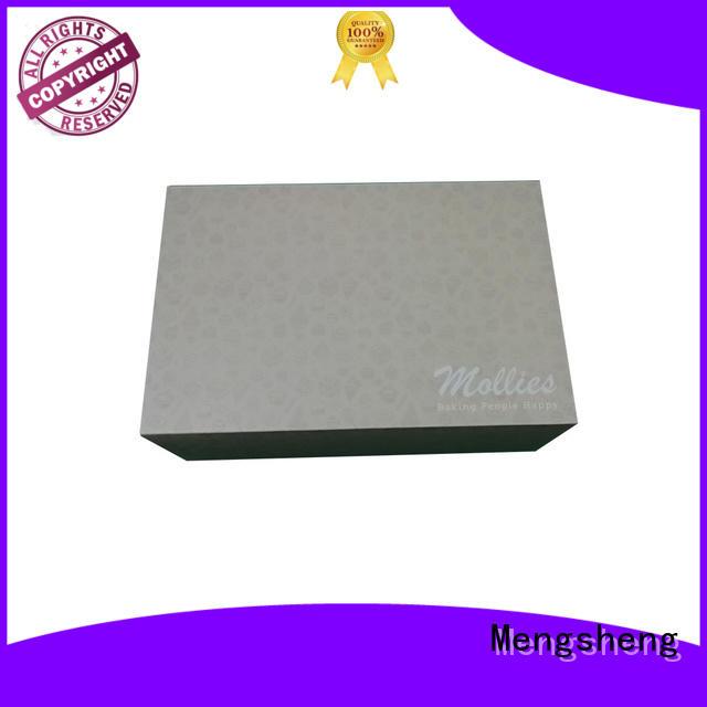 Mengsheng full color cake slice boxes reversible top brand