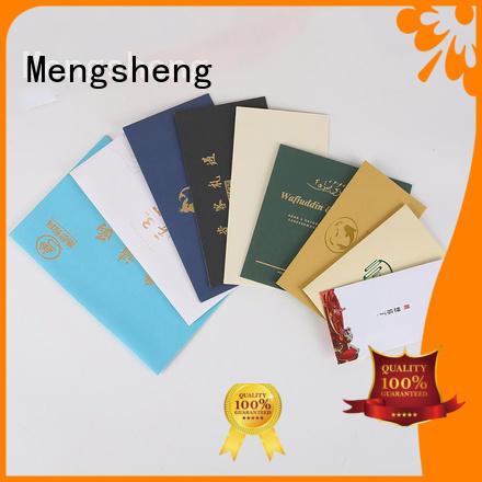 Mengsheng Biodegradable colored envelopes Kraft paper packing services