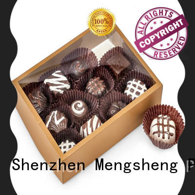 Mengsheng food confectionery boxes natural kraft paper for packing