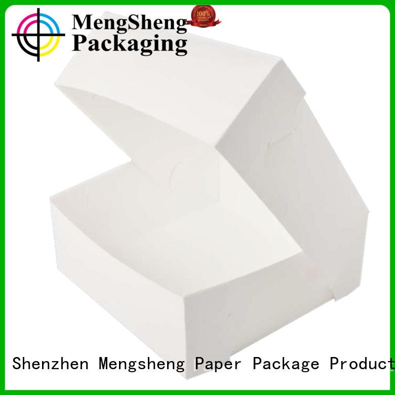 Mengsheng imprinted paper cake box removable