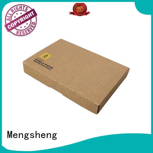 Mengsheng various shapes large white gift box carton printed for toy storage