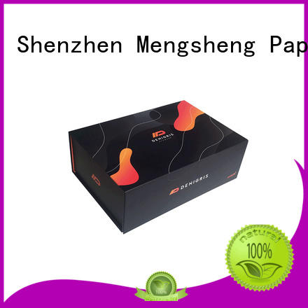 Mengsheng removable magnetic lock box corrugated clothing shipping