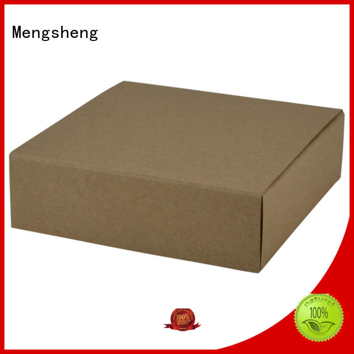 Mengsheng convenient paper boxes pvc inserted clothing shipping