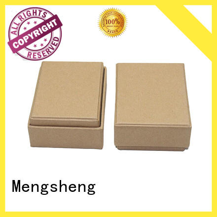 Mengsheng stamping two piece box ribbon design for wholesale