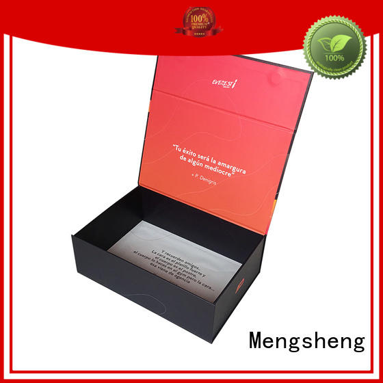 Mengsheng new magnetic lid gift box pvc inserted clothing shipping
