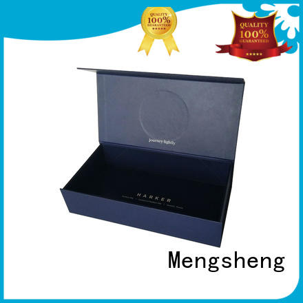 Mengsheng various shapes magnet gift box printing with lid