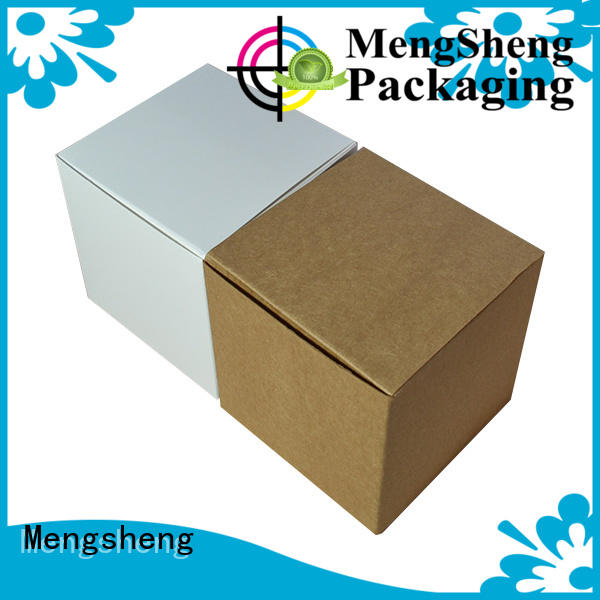 Mengsheng removable square gift boxes with lids corrugated for christmas gift