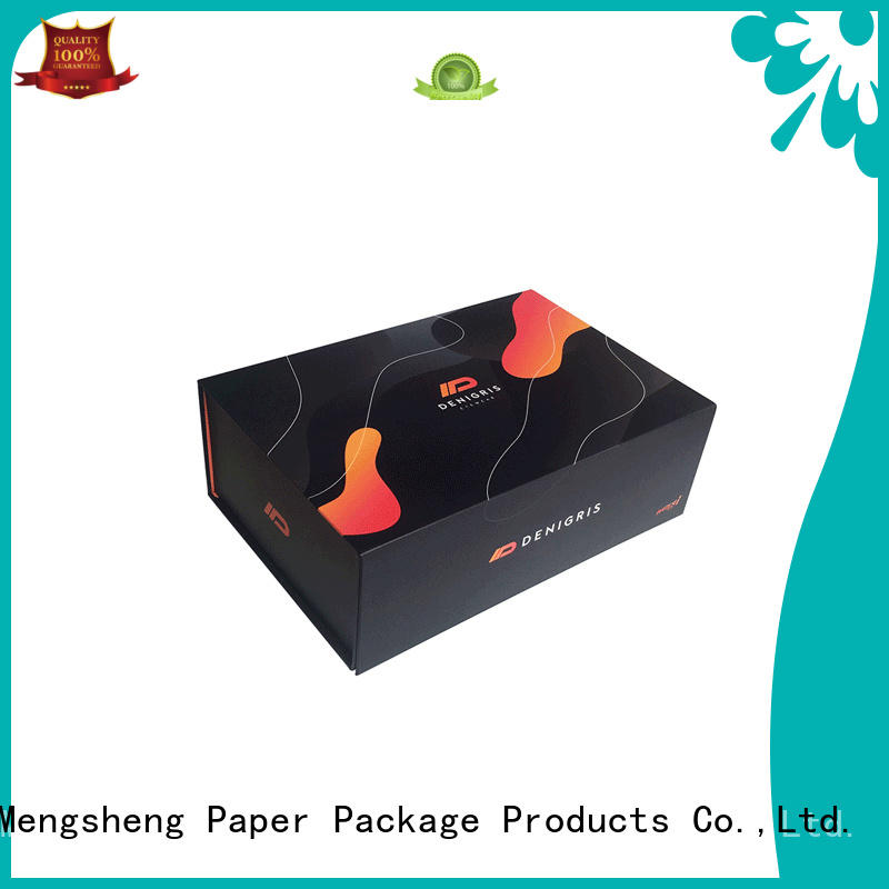 Mengsheng removable black magnetic box printing for toy storage