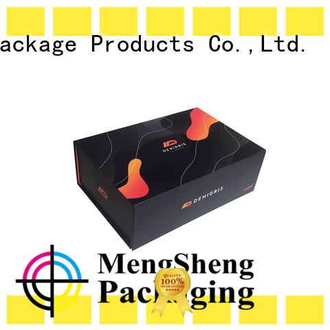 Mengsheng hot-sale folding box packaging easy closure swimwear packing