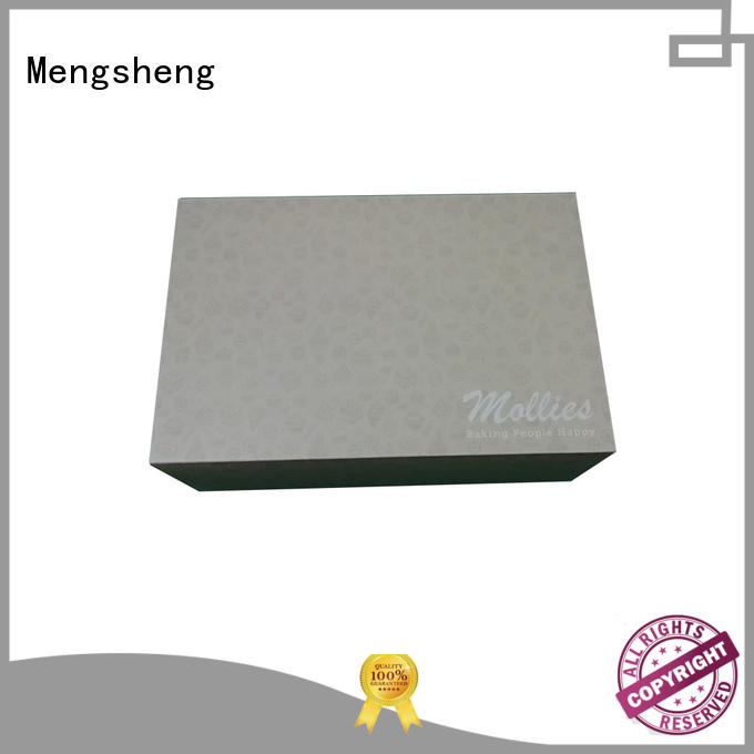 Mengsheng removable cheap cake boxes rectangular top brand